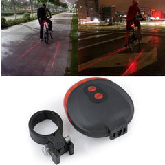 5 LED 2 Laser Tail Warning Bicycle Rear Lamps - The Cycling Fever - 1