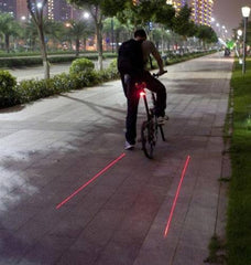 5 LED 2 Laser Tail Warning Bicycle Rear Lamps - The Cycling Fever - 2