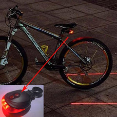 5 LED 2 Laser Tail Warning Bicycle Rear Lamps - The Cycling Fever - 3