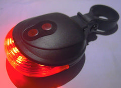 5 LED 2 Laser Tail Warning Bicycle Rear Lamps - The Cycling Fever - 4