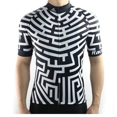 Fashion Black & White Cycling Jersey - The Cycling Fever - 1