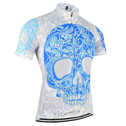 Blue Skull Cycling Jersey