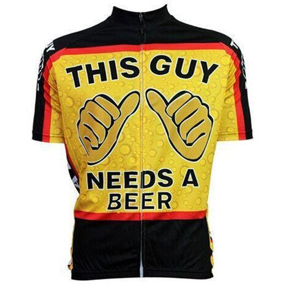This Guy Needs Beer Funny Cycling Jersey