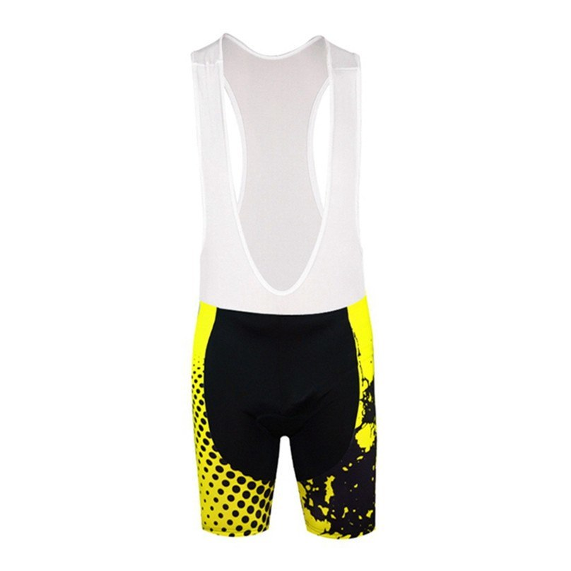 Yellow Cycling Bib Shorts - The Cycling Fever - 1