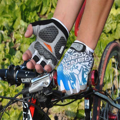 Shockproof Half Finger Cycling Gloves Hexagon 3D GEL - The Cycling Fever - 2