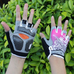 Shockproof Half Finger Cycling Gloves Hexagon 3D GEL - The Cycling Fever - 3