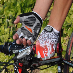 Shockproof Half Finger Cycling Gloves Hexagon 3D GEL - The Cycling Fever - 4