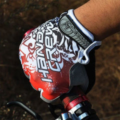 Shockproof Half Finger Cycling Gloves Hexagon 3D GEL - The Cycling Fever - 5