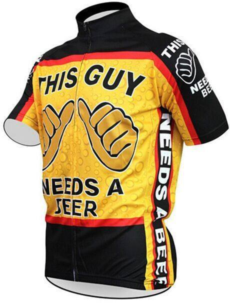 This Guy Needs Beer Funny Cycling Jersey The Cycling Fever