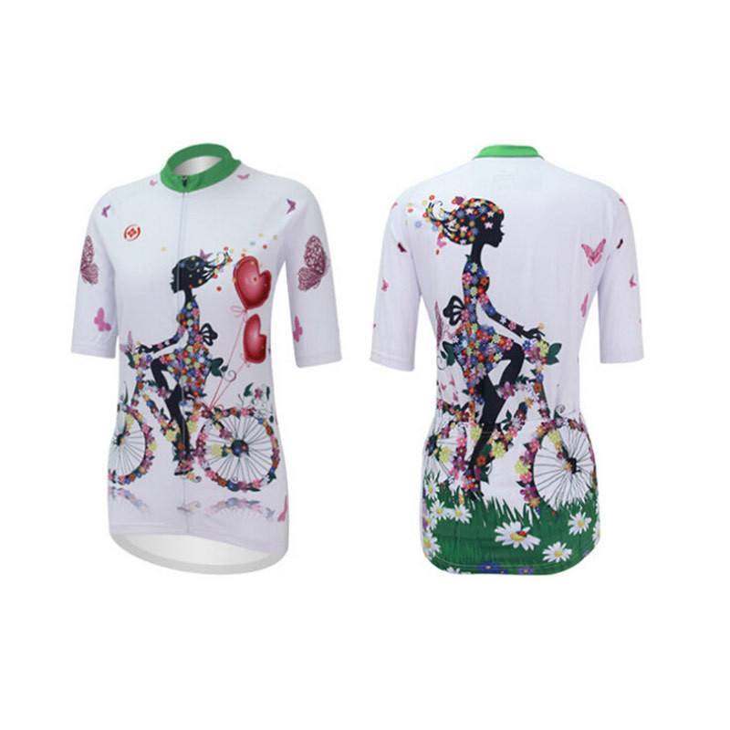 Women Cycling Jersey With Hearts - The Cycling Fever - 2 03145b5b5
