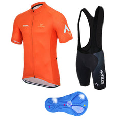 Yellow & Orange Cycling Jerseys + Shorts - The Cycling Fever - 1