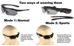 Professional Polarized Cycling Sunglasses With Sports Strap - The Cycling Fever - 12