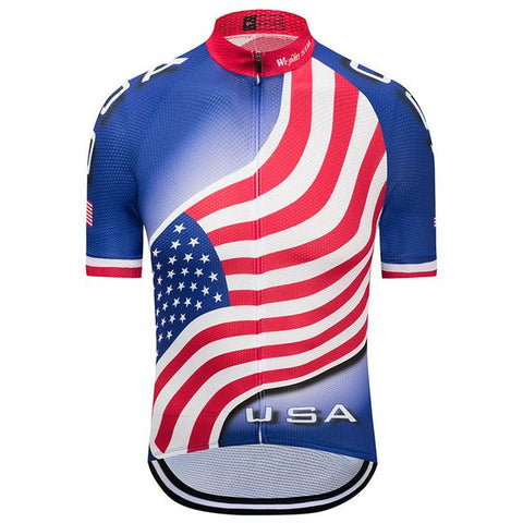 All Over Print USA Flag Cycling Jersey