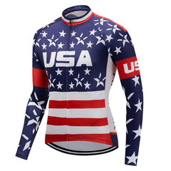 USA Long Sleeve Cycling Jersey