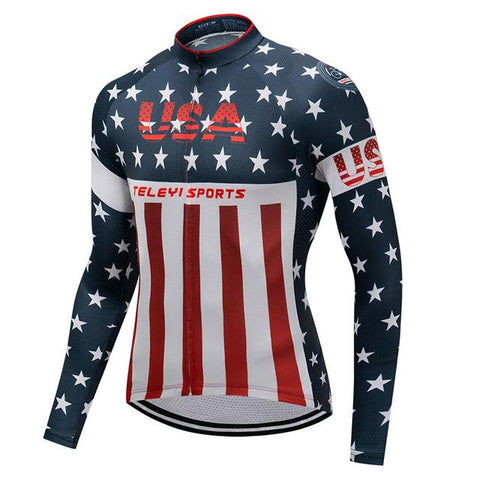 Stunning USA Long Sleeve Cycling Jersey