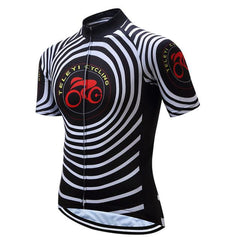 Black & White Spiral Cycling Jersey