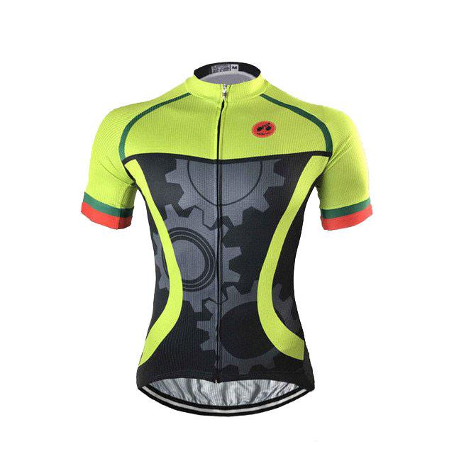 Green Mechanical Cycling Jersey