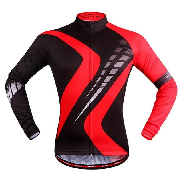 Red Road Long Sleeve Cycling Jersey