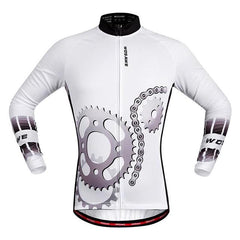 Mechanical Long Sleeve Cycling Jersey