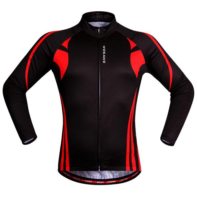Red Speed Long Sleeve Cycling Jersey