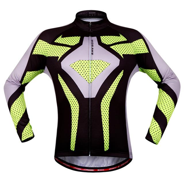 Yellow Shield Long Sleeve Cycling Jersey