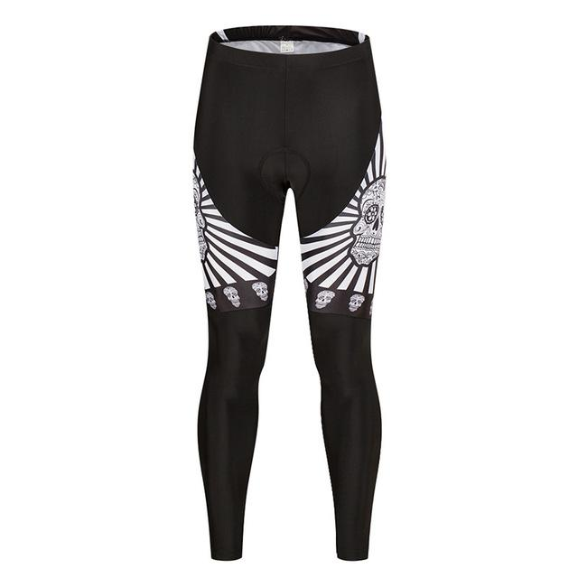 White Skull Shockproof Cycling Pants
