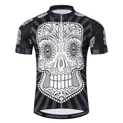 Crazy Black Skull Cycling Jersey