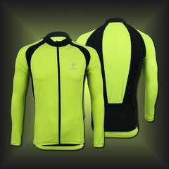 Green And Black Long Sleeve Cycling Jersey
