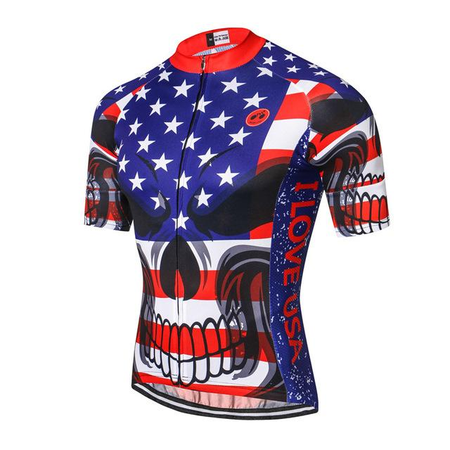 USA Skull Cycling Jersey