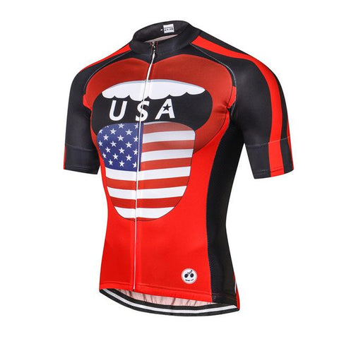 USA Take Out The Tongue Cycling Jersey