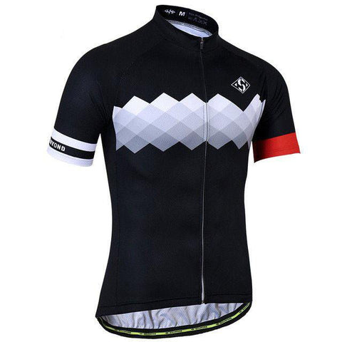 Black & White Cycling Jersey