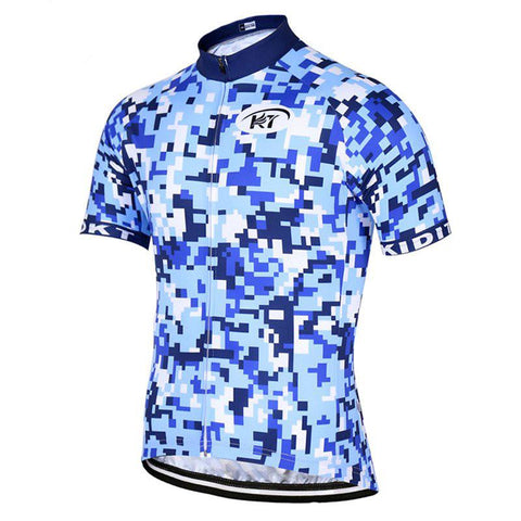 Blue Fashion Cycling Jersey