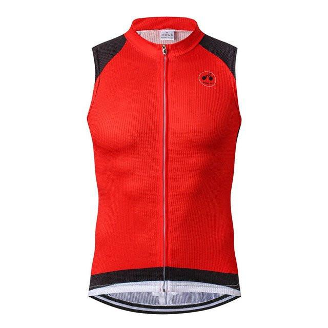 Red Sleeveless Cycling Jersey