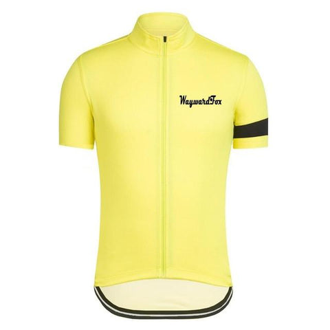 Classic Yellow Cycling Jersey