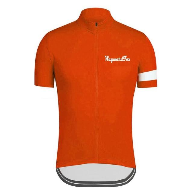 Classic Orange Cycling Jersey