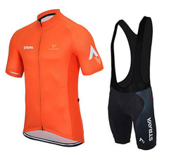 Yellow & Orange Cycling Jerseys + Shorts - The Cycling Fever - 2