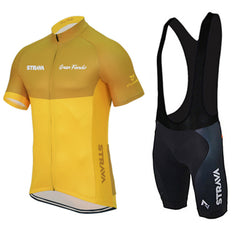 Yellow & Orange Cycling Jerseys + Shorts - The Cycling Fever - 4
