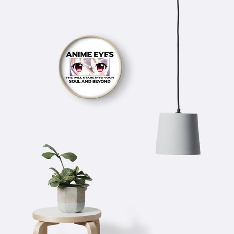 Anime Eyes Clock