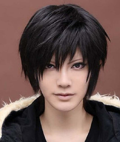 Men's Death Note Male Black Short Spiky Heat Resistance Cosplay Anime Wig Kirito