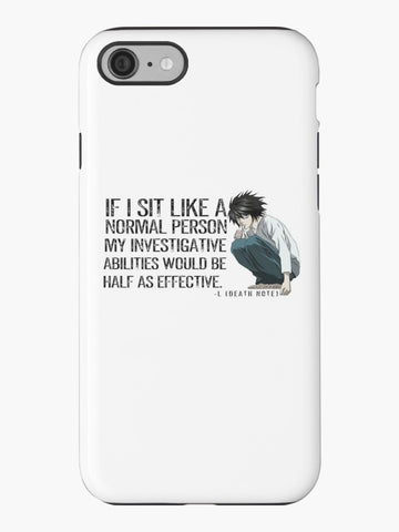 L Death Note Sitting TOUGH iPhone Case