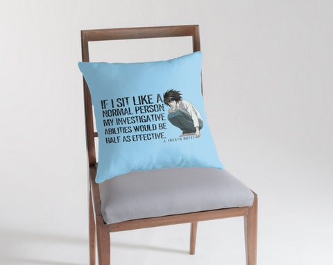 L Death Note Sitting Throw Pillows
