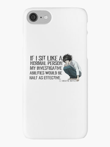 L Death Note Sitting SNAP iPhone Case