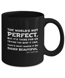 The Worlds Not Perfect Anime Mug, Black