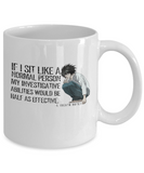 L (Death Note) Quote Mug, White