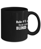 Anime Blind Monk Quote Mug in Black