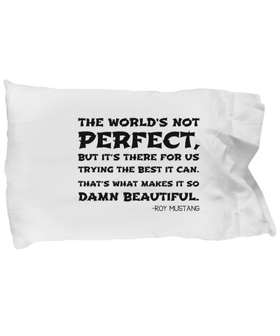 Roy Mustang Quote Pillow Case