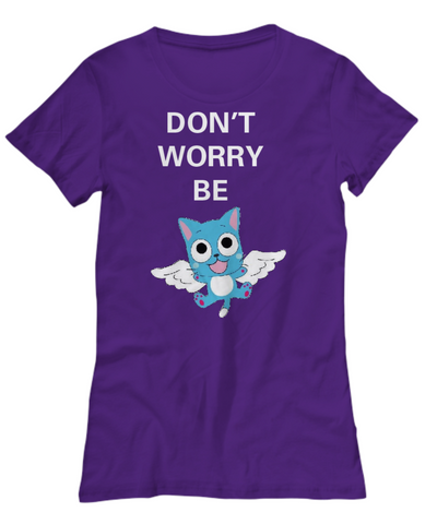 Anime Don't Worry Be Happy Women's T Shirt