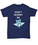 Anime T Shirt Don't Worry Be Happy Navy Blue