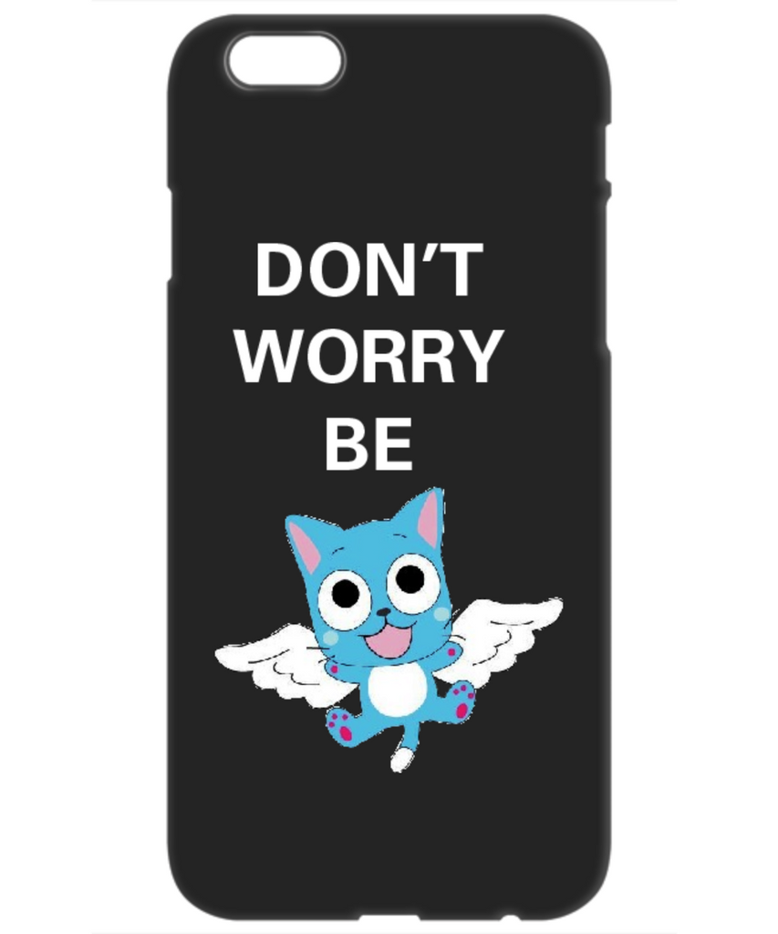 Anime iPhone 6 Cover Case Don't Worry Be Happy Black