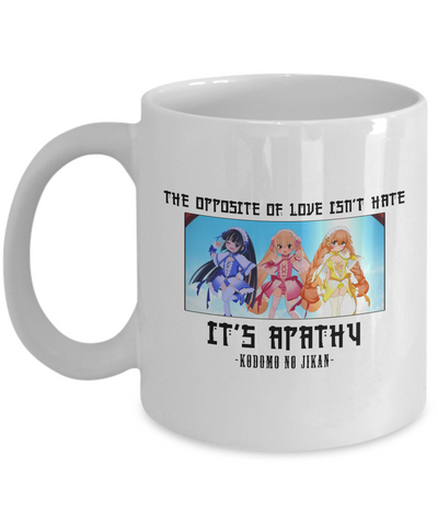Kodomo No Jikan Apathy Quote Mug, White
